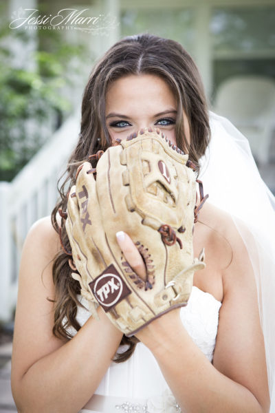 Baseball Bride Photo
