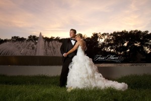 Wedding Fountain Sunset - modern chic (the knot)