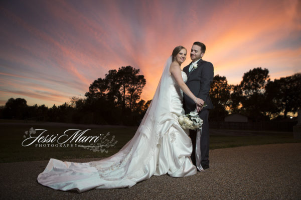 Sunset Houston Wedding