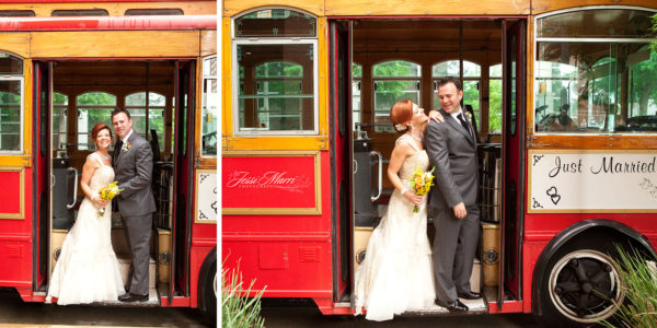 Red Trolley Couple