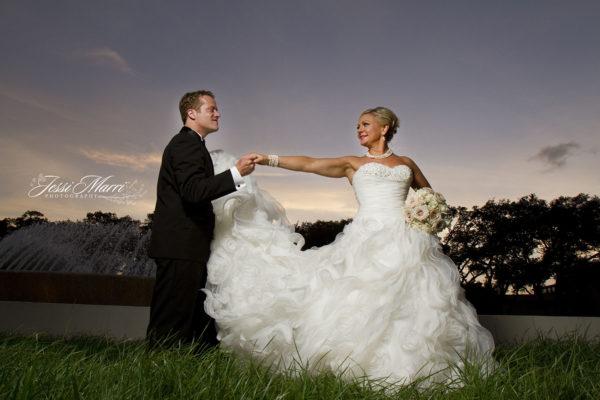 Wedding Fountain Sunset 2