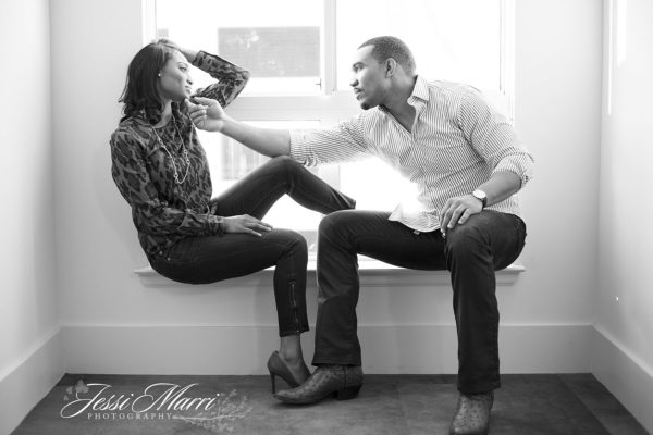 Sexy Window Couple Engagement Photography